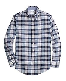 Regent Fit Heathered Plaid Sport Shirt
