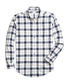 Non-Iron Regent Fit Blanket Plaid Sport Shirt