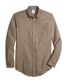BrooksFlannel® Regent Fit Herringbone Sport Shirt