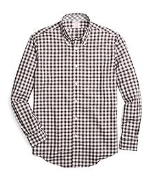 Non-Iron Madison Fit Heathered Gingham Sport Shirt