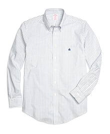 Non-Iron BrooksCool® Madison Fit Double Stripe Sport Shirt