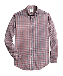 Milano Fit Heathered Gingham Sport Shirt