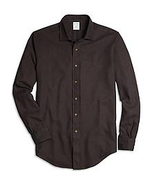BrooksFlannel® Regent Fit Houndstooth Sport Shirt