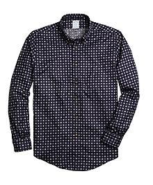 Non-Iron Regent Fit Foulard Print Sport Shirt