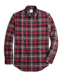 Regent Fit Flannel Graph Plaid Sport Shirt