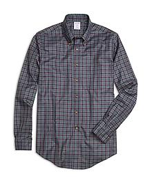 Non-Iron Regent Fit Micro Tartan Sport Shirt