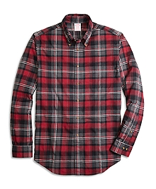 Madison Fit Flannel Graph Plaid Sport Shirt