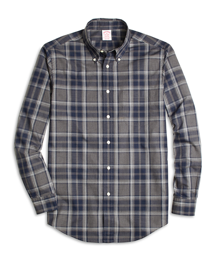 Madison Fit Heathered Plaid Sport Shirt