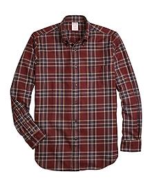 Madison Fit Saxxon Wool Plaid Sport Shirt