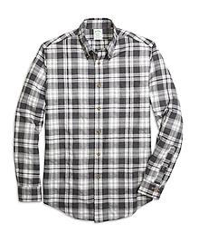 Milano Fit Flannel Heathered Multi Plaid Sport Shirt