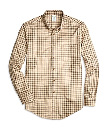 Non-Iron Milano Fit Double Windowpane Sport Shirt