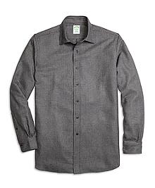 Milano Fit Saxxon Wool Glen Plaid Sport Shirt