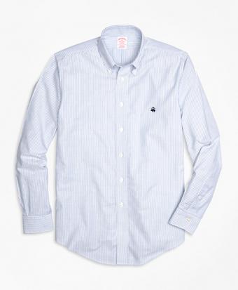 Non-Iron Madison Fit Oxford Stripe Sport Shirt