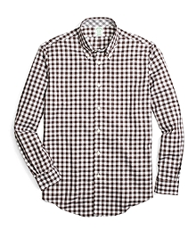 Non-Iron Milano Fit Heathered Gingham Sport Shirt