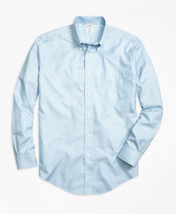 2e1d30aa Men's Non-Iron Slim Fit Striped Twill Sport Shirt | Brooks Brothers