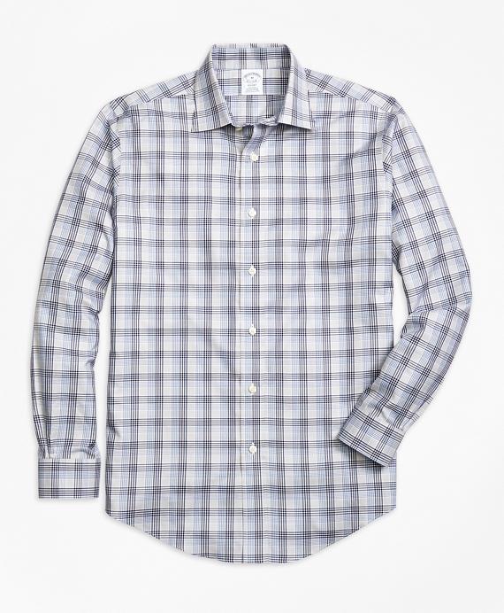 Non-Iron Regent Fit Plaid Sport Shirt Grey