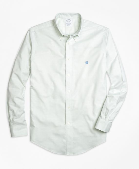 Non-Iron Regent Fit Oxford Sport Shirt Aqua