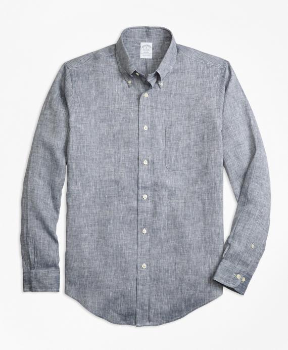 Regent Fit Irish Linen Sport Shirt Grey