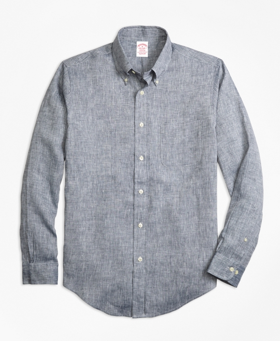 Madison Fit Irish Linen Sport Shirt Grey
