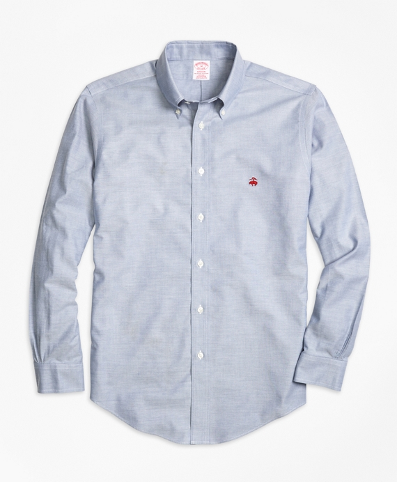 Non-Iron Madison Fit Oxford Sport Shirt Blue