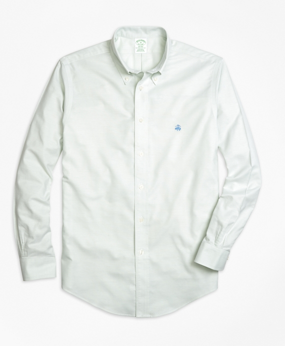 Non-Iron Milano Fit Oxford Sport Shirt Aqua