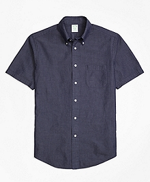 Milano Fit Seersucker Short-Sleeve Sport Shirt