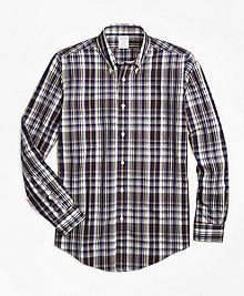 Non-Iron Milano Fit Plaid Sport Shirt
