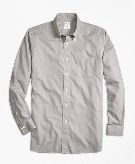 Regent Fit Cotton Cashmere Glen Plaid Sport Shirt