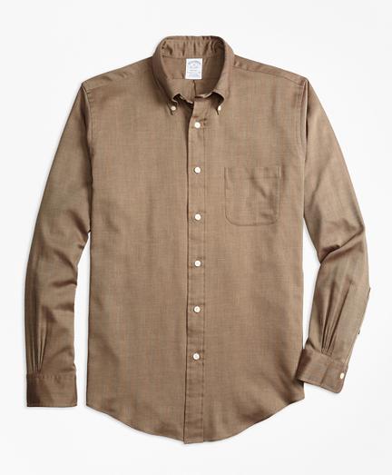 Regent Fit Cotton Cashmere Herringbone Sport Shirt