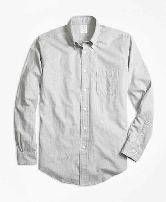 Milano Fit Heathered Dot Sport Shirt Grey