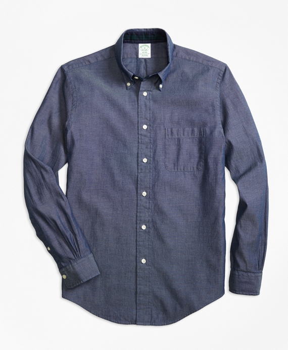 Milano Fit Indigo Dobby Sport Shirt Light Blue