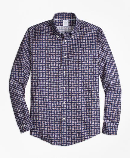 Regent Fit Mini-Paisley Print Sport Shirt