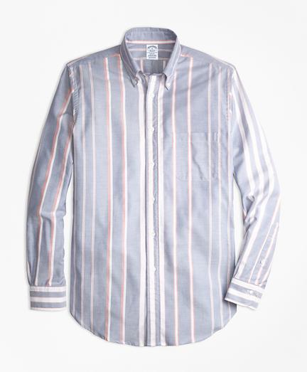 Regent Fit Oxford Bold Stripe Sport Shirt