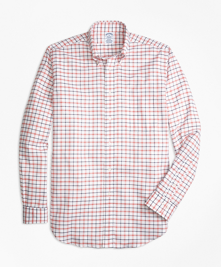 Regent Fit Oxford  Large Check Sport Shirt