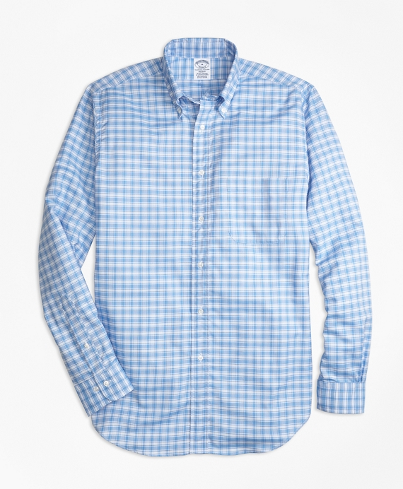Regent Regular-Fit Oxford Check Sport Shirt Blue