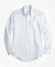 Milano Fit Stripe Irish Linen Sport Shirt