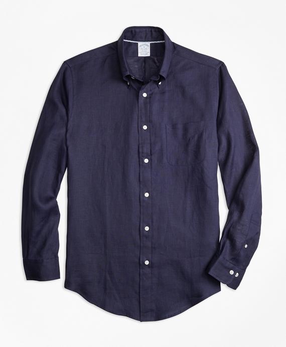 Regent Fit Irish Linen Sport Shirt Blue