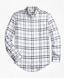 Regent Fit Plaid Irish Linen Sport Shirt