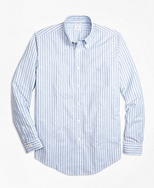 Non-Iron BrooksCool® Regent Fit Stripe Sport Shirt