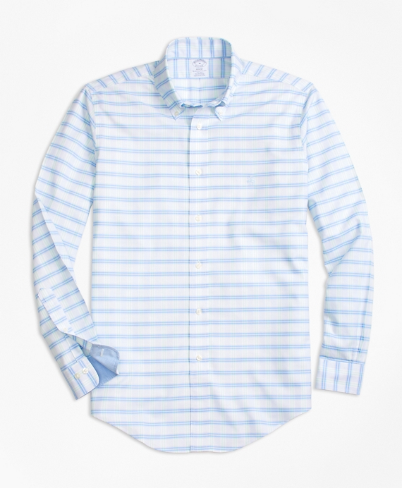 BrooksCool® Regent Regular-Fit Sport Shirt, BB#1 Check Blue