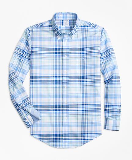 Non-Iron BrooksCool® Regent Fit Plaid Sport Shirt