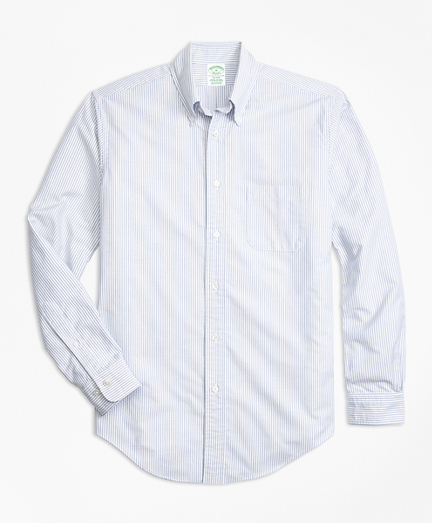Milano Fit Oxford Bengal Stripe Sport Shirt