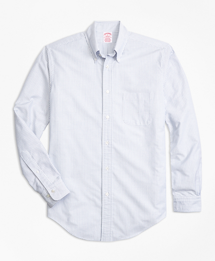 Madison Fit Oxford Bengal Stripe Sport Shirt