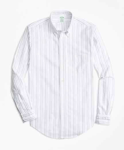 Milano Fit Oxford Multi-Stripe Sport Shirt