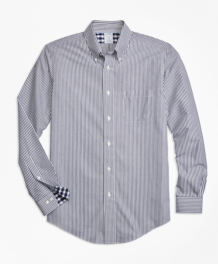 Non-Iron Regent Fit Bengal Stripe Sport Shirt