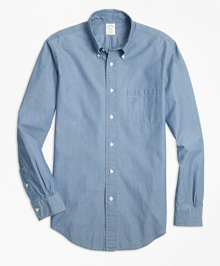 Milano Fit Indigo Chambray Sport Shirt
