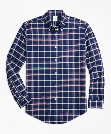 Non-Iron Milano Fit Check Sport Shirt