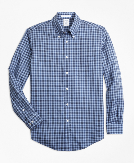 Regent Fit Small Check Sport Shirt