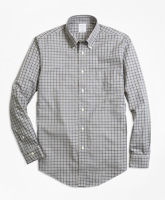 Regent Regular-Fit Sport Shirt, Non-Iron Check Grey