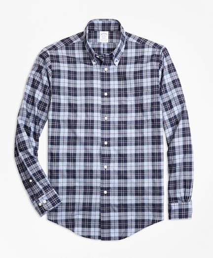 Regent Fit Plaid Flannel Sport Shirt